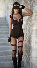 SWAT HOTTIE COSTUME YA83797 S M L XL Black Romper Cosplay Lingerie Halloween LTD