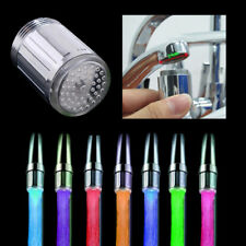 LED Faucet Temperature Sensor Adapter Light Colorful Kitchen Water Tap W0202