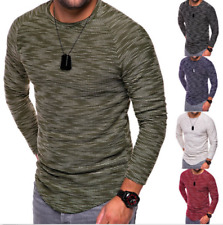 Fashion Men's Slim Fit Long Sleeve O Neck Muscle Tee T-shirt Casual Tops Blouse