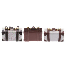 1:6th Scale Vintage Suitcase Luggage Cases Dollhouse Miniature Dolls Accessories