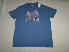 LUCKY BRAND T-SHIRT MENS SIZE XL SHORT SLEEVE CREWNECK BLUE COLOR NEW WITH TAGS