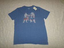 LUCKY BRAND T-SHIRT MENS SIZE XXL SHORT SLEEVE CREWNECK BLUE COLOR NEW WITH TAGS