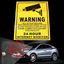 24 Hours Monitor Hot Electric Shock Stickers Sign Vedio Warning Alert Security.
