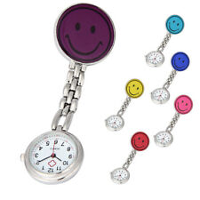Clip-on Fob Brooch Pendant Hanging Smile Face Watch Design Pocket Watch