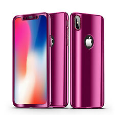 Luxury Ultra Slim 360 Full Body Mirror Hard Case Cover For iPhone X 8 7 6s Plus