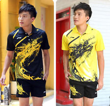 New Arrival Li Ning Men's table tennis Clothing/Badminton Set shirt+shorts 1036A