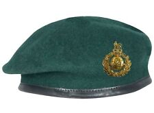 Royal Marines Commando Green Beret + Official Anodised Cap Badge (All Sizes
