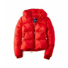 NWT American Eagle Women's AE SHORT PUFFER JACKET Coat Red - S, M, L - $99.95