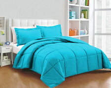 Super Soft Down Alternative Solid Comforter Set, King Size and Colors