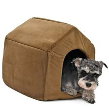 Dog Luxury House Pet Bed Kennel Cat Crate Small Tent Cover Cozy Soft Warm New