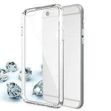 For iPhone Models Transparent Silicone Case & Tempered Glass Screen Protector