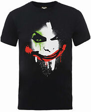Batman Arkham Joker Face T-Shirt Mens Black Official DC Comics Tee S M L XL XXL