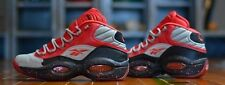 Reebok Question Mid Allen Iverson STASH Sz 9 grey red The Answer Pump Fury 4 IV