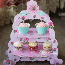 Cupcake Stand 2 Tier European-style Paper Cake Stand Dessert Holder Party Decor