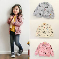Kids Girls/Boys Jacket Tops Long-Sleeved Button-up Cartoon Printing Dogs Coat