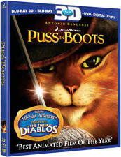 Puss in Boots [Blu-ray/DVD] [Includes Digital Copy] [3D] (Blu-ray Used Like New)