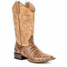 Roper Women's Brown Exotic Leather Square Toe Western Boot #09-021-7020-1198BR