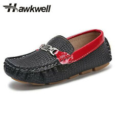 Girl black Mary Jane school shoes moccasin big boya and girls slip on Leather