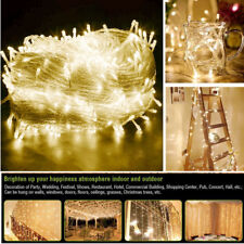 Indoor Outdoor Christmas String Fairy Wedding Curtain Light - 10M 100/304 LED