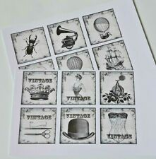 15-45 STICKERS SCRAPBOOKING CRAFT CARDMAKING EMBELLISHMENTS VINTAGE IMAGES