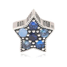 Authentic Silver Bright Star Multi-Colored Women Charm for European Bracelet