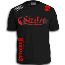Stryker Fight Gear Shorts Sleeve T-Shirt MMA UFC Boxing wwe FREE Tapout Sticker