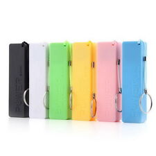 Mobile Power Case Box USB 18650 Battery Cover KeyChain for iPhone Samsung MP3 QZ