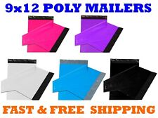"9x12 Color POLY MAILERS Shipping Envelopes Self Sealing Mailing Bags 9"" x 12"""