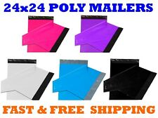 """24x24 Color POLY MAILERS Shipping Envelopes Self Sealing Mailing Bags 24"""" x 24"""""""