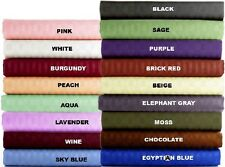 1000TC EGYPTIAN COTTON 1 PC BED SKIRT/VALANCE STRIPE ALL COLOR AU-KING SIZE