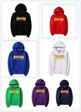 Thrasher Logo men/women with the flame fleece hoodies couple tops clothing New