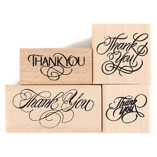 Vintage Thank You Wooden Rubber Stamp Craft Wedding Party 4 Styles LJ
