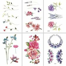 Flower Rose Waterproof Temporary Tattoo Sticker for Adults Kids Body Art Women W
