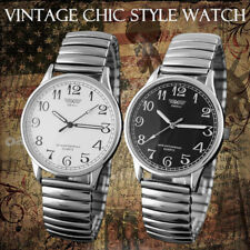 Vintage Women &  Mens Watches Fashion Couple Elastic Band Quartz Wrist Watches