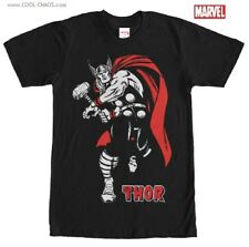 The Mighty Thor T-Shirt / Marvel Comics,Red/White Art Thor Strike Men's Tee