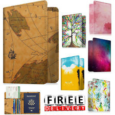 Leather Passport Wallet RFID Blocking Case Travel Cover Credit Card ID Holder