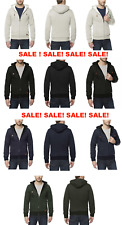 NEW BUFFALO MENS SHERPA LINED HEAVY FULL ZIP HOODIE - VARIETY AND COLORS