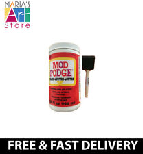 32Oz Mod Podge Gloss Waterbased Glue Sealer Decoupage Craft + 1.75'' Foam Brush