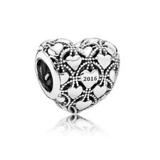 Authentic Sterling Silver Love Heart 2016 Club Charm Women Bracelet Bead Fashion