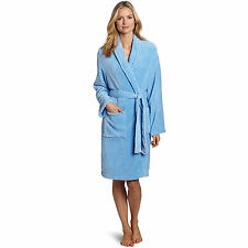 "Women's Bathrobe Terry Robe Textured Plush Soft Polyester Bath Home Spa 41"" NEW"
