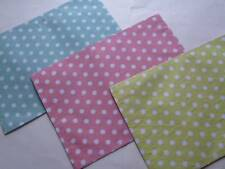 Easter Spring/Summer Placemat White Polka Dots On Light Blue/Pink/Green UPIC NEW