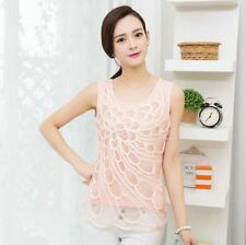 Slim New Fashion Summer All-match Casual Wear Sleeveless Blouse For Women