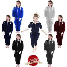 New Boys Kids Girls Not Gerber ALL IN ONE Hooded Onesie Jumpsuit Playsuit 7-13Yr