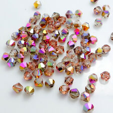 Wholesale Bicone Faceted 5301# Crystal Glass Loose Spacer Beads new 3mm/4mm/6mm