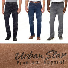 Men's Urban Star Premium Apparel Jeans Straight Leg Relaxed Fit Stretch NEW