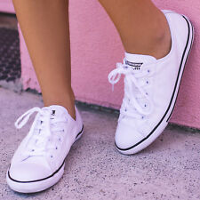 Converse Womens Dainty Lo-Cut Shoes in White