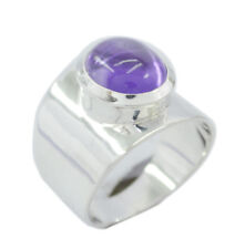 Natural Amethyst  Gemstone Sterling Silver Ring gift for children day AU SZ 5-16