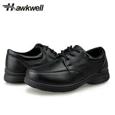 Hawkwell Kids Boys Girls Lace up School Uniform Shoes Oxford Black Sneakers