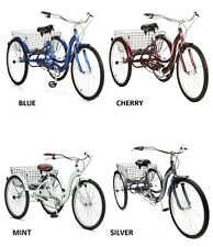 Adult Tricycle Bike Schwinn Meridian 3 Wheel Trike Comfort Folding Basket colors