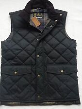 Barbour Boxley Men's Waxed-Cotton Quilted Vest -Olive,  Size Medium M